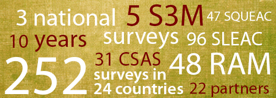 252 surveys in 24 countries, 48 RAM, 22 partners