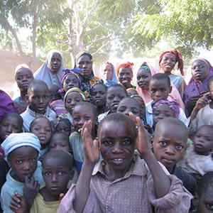 group of African kids
